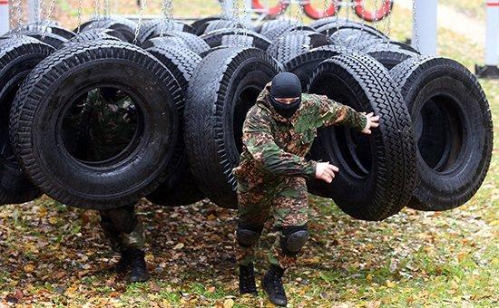Тренировка подразделений МВД государств-членов ОДКБ