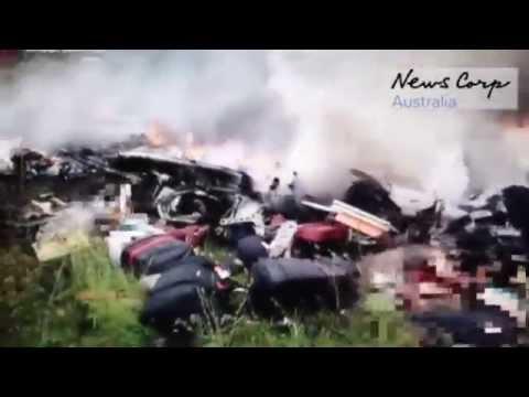 «Сухой» сбил гражданский самолёт»: видеозапись ополчения с места крушения MH 17