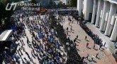 Беспилотник заснял акцию протеста у здания Верховной рады в Киеве