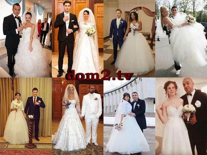 Сколько было свадеб на доме 2 всего