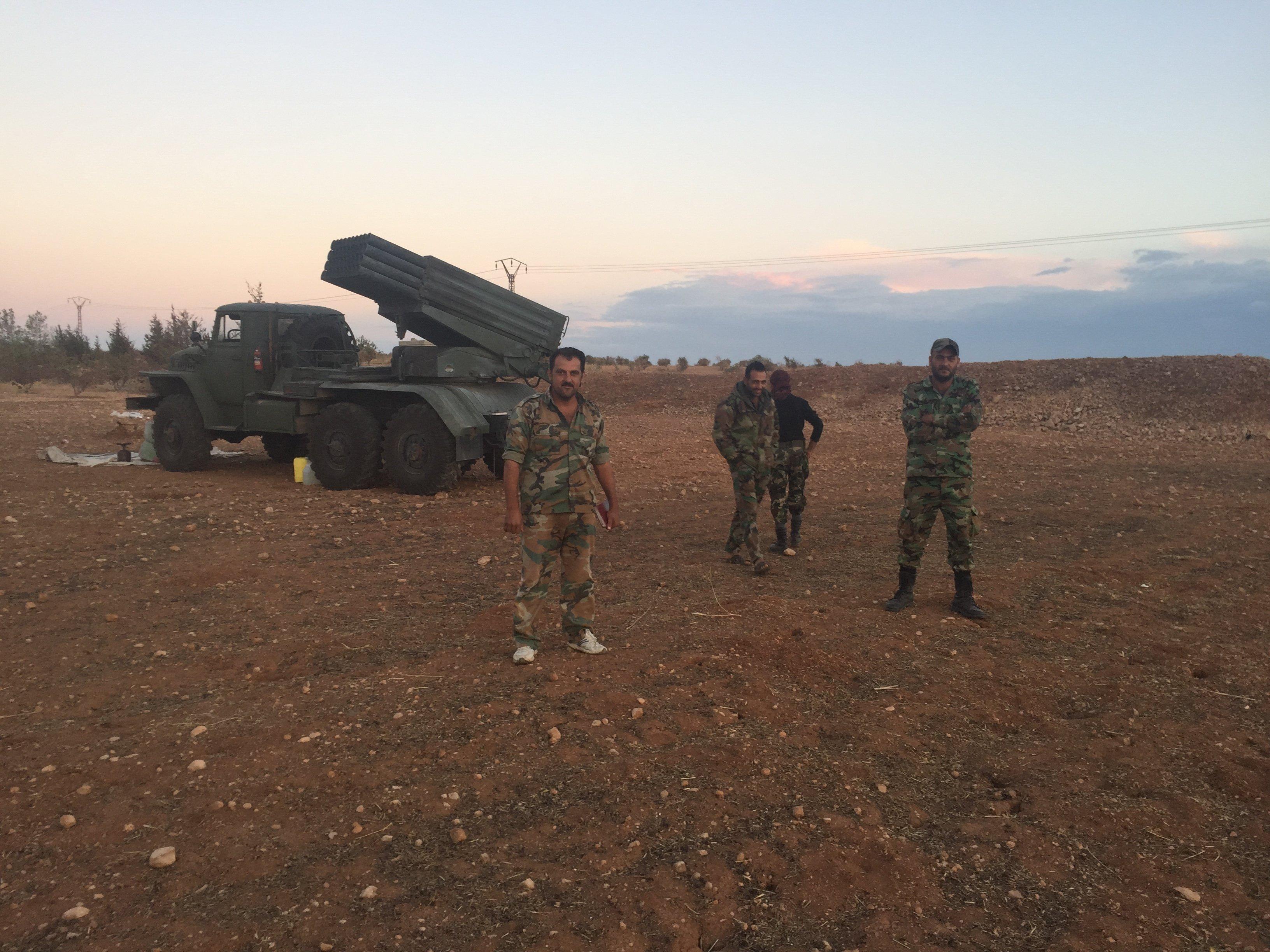 © Михаил Алаеддин Бойцы сирийской армии на севере провинции Хама