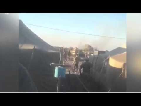 В интернете появилось видео взрыва танка в воинской части на Украине