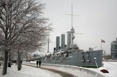 Крейсер «Аврора» - символ Октябрьской революции (Фото: Alexey Seleznev, Shutterstock)