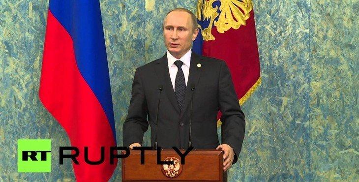 Владимир Путин: Турция сбила Су-24, чтобы обеспечить безопасность поставок нефти ИГ