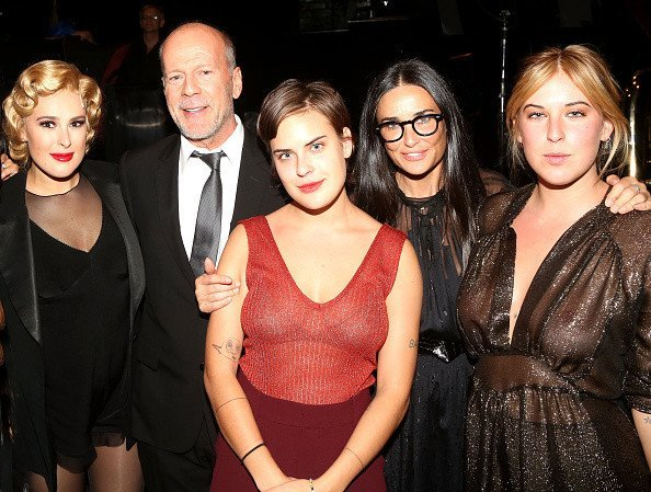 Брюс Уиллис и Деми Мур с дочерьми Румер, Таллулой и Скаут, Фото: Getty