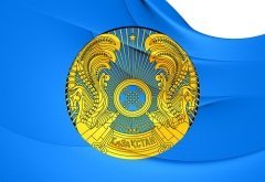 Флаг Казахстана (Фото: yui, Shutterstock)