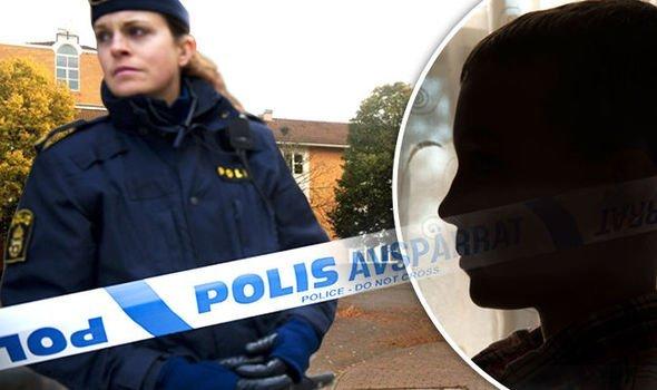 шведская полиция убегает