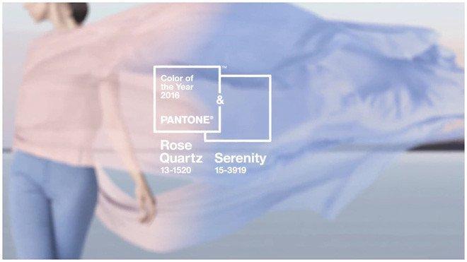 Главные цвета 2016 года – серенити и розовый кварц, Фото: pantone.com