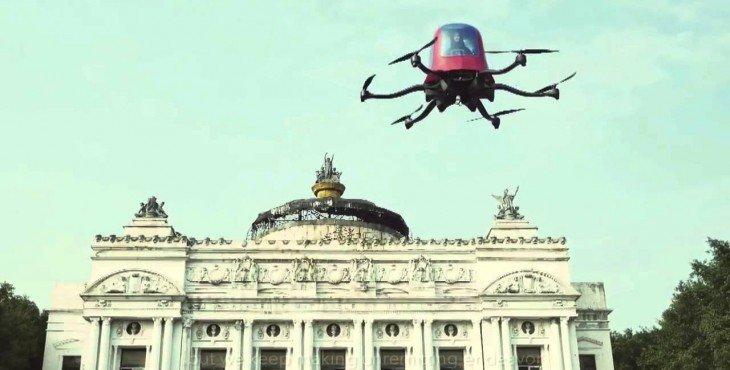 Представлен автономный одноместный летающий дрон-такси