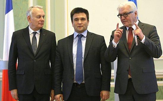 Главы МИД Германии и Франции прилетели в Киев