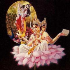 Изначально Веды, брахма-шабда, были поведаны Шри Кришной Брахме — конструктору Вселенной