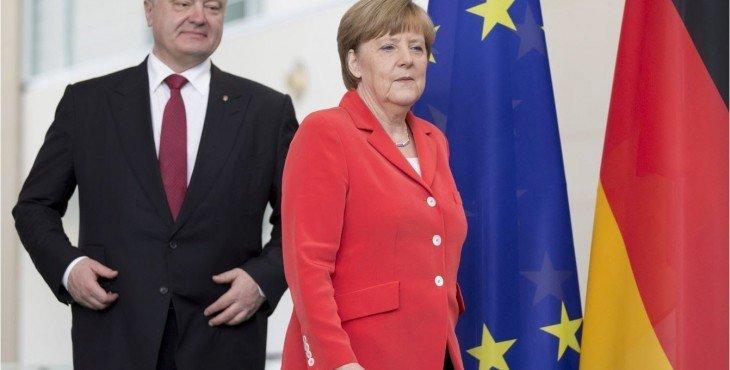 Напоследок. Меркель догнала Порошенко на выходе