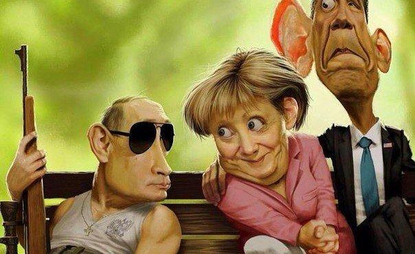 Путин Меркель Обама