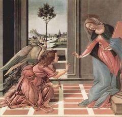 """""""Благовещение"""" Сандро Боттичелли (1489—1490)"""