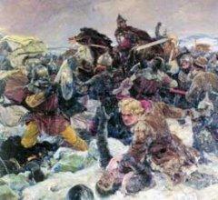 Картина В.А. Серова «Ледовое побоище»
