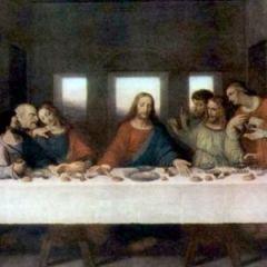 Тайная вечеря (фрагмент), Леонардо да Винчи, 1494—1498