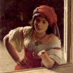 Фрагмент картины Н.Ярошенко «Цыганка» (1886)