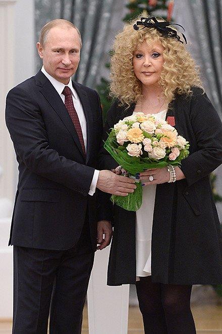 Владимир Путин и Алла Пугачева в 2014-м, Фото: East News