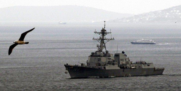 американский эсминец уничтожен