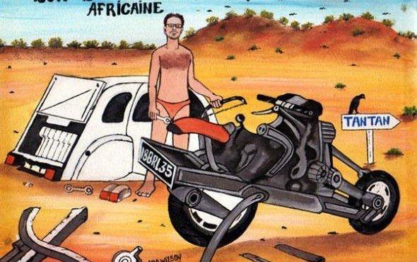 Как собрать мотоцикл из разбитой машины и выбраться из марокканской пустыни