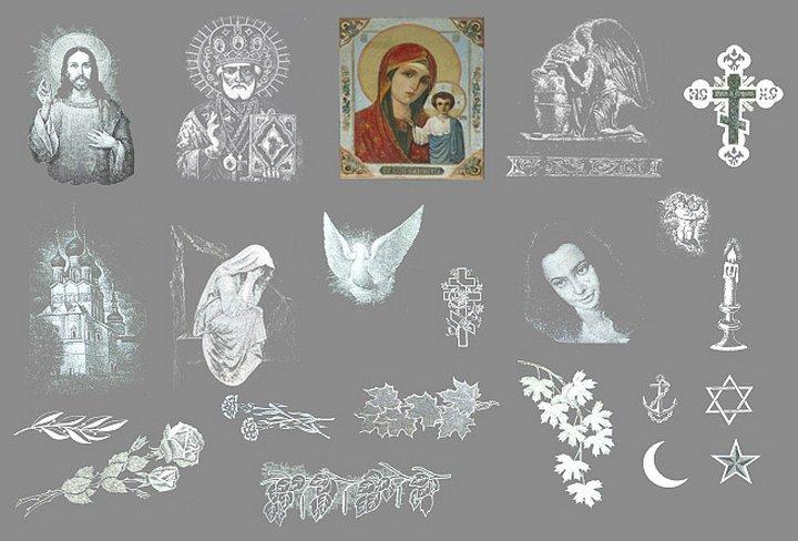 Рисунки на надгробных плитах