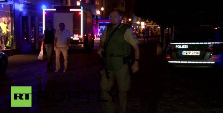 В центре немецкого Ансбаха произошёл взрыв: один человек погиб, 14 ранены