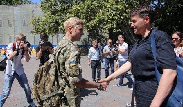 Савченко пиарится