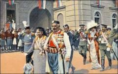 Король Никола I Петрович и королева Милена 28 августа 1910 года