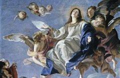 """Фрагмент картины Кабазалеро """"Успение Богородицы"""" (1665-1670, Музей Прадо, Испания)"""