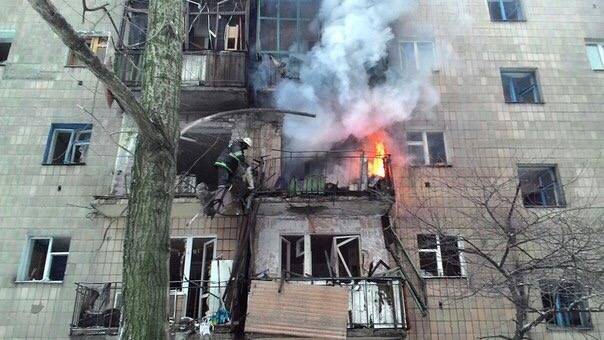 Украина открыла огонь по Донецку из тяжелых вооружений
