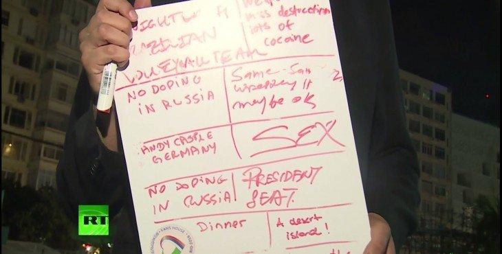 Гости Рио попросили у Путина исполнить свои мечты: Кресло президента, ужин и замок в Германии… Видео