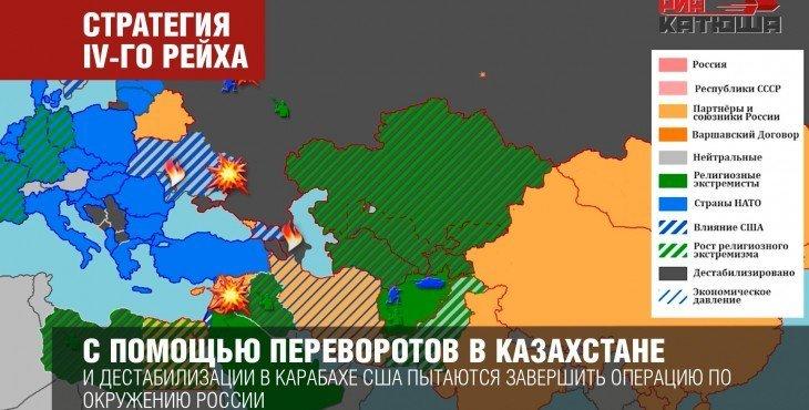 США применило против России — «Кольцо Анаконды»: стратегию IV-го рейха.