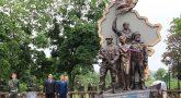 в Луганске взорвали памятник погибшим ополченцам