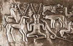 Рогатый бог в окружении животных
