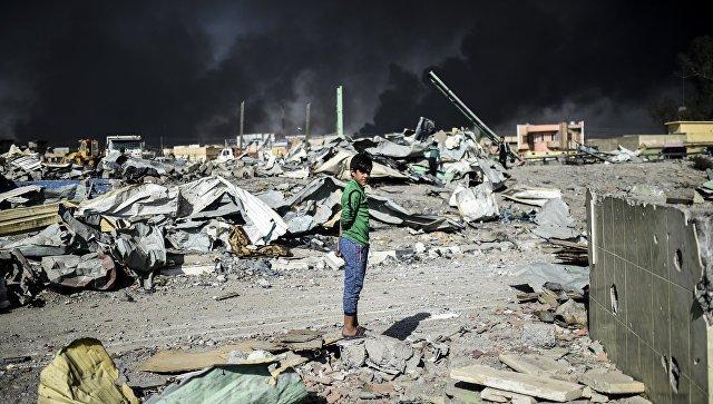 ГенштабРФ объявил обударах коалиции США пожилым кварталам под Мосулом