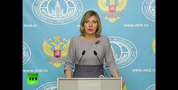 Брифинг Захаровой по актуальным вопросам внешней политики — LIVE Видео