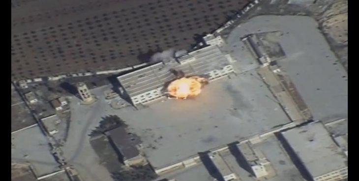 Видео ударов ВКС РФ крылатыми ракетами по террористам в Сирии — Видео