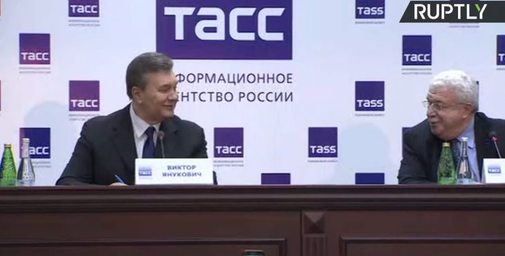 Янукович сдает всё и всех! Пресс-конференция Виктора Януковича после заседания по делу о беспорядках на Майдане — видео