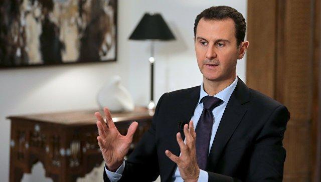 Асад несобирается заканчивать войну вСирии после победы вАлеппо