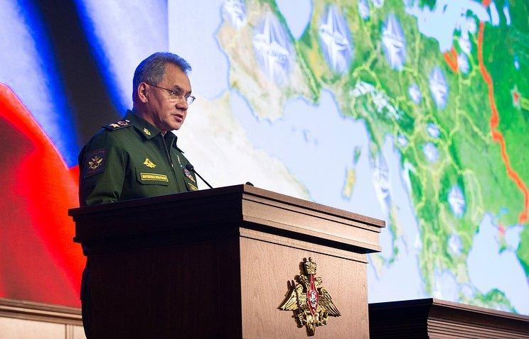 Шойгу объявил онеобходимости укрепления войск наюге Российской Федерации