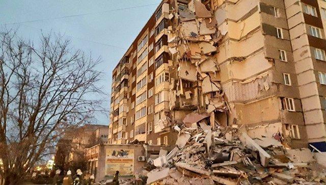 Обрушение 9 этажей в жилом доме в Ижевске — последние новости, фото и видео с места аварии