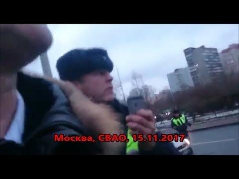 Московских гаишников обвинили впопытке задушить пешехода