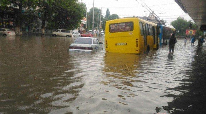 Крым затопило из-за непогоды