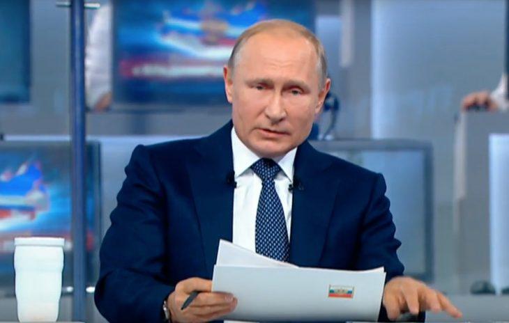 Путин на линии: Краткий пересказ эфира 4,5 часа за 5 минут