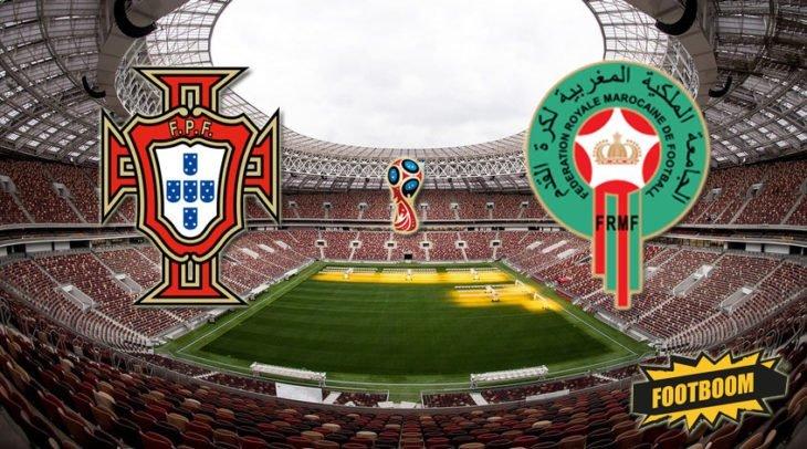 Футбол. Португалия — Марокко. Видео трансляция 20 июня 2018 где смотреть онлайн матч. Подробности, состав команды, прогноз , ставки букмекеров.