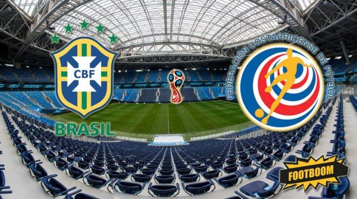 Футбол. Бразилия – Коста-Рика. Видео трансляция 22 июня 2018 где смотреть онлайн матч. Подробности, состав команды, прогноз , ставки букмекеров.