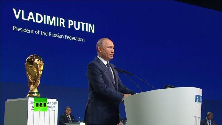 Выступление Путина на заседании конгресса ФИФА в Москве