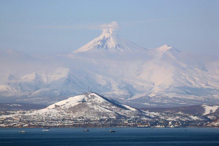 Камчатка, вулкан, бухта Фото Pixabay