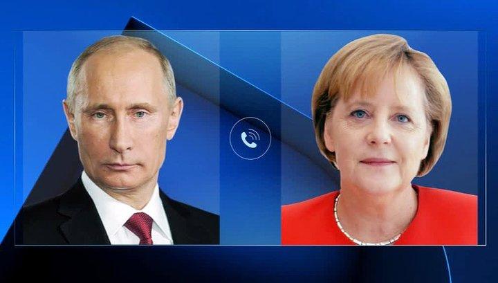Владимир Путин провел телефонный разговор с Ангелой Меркель