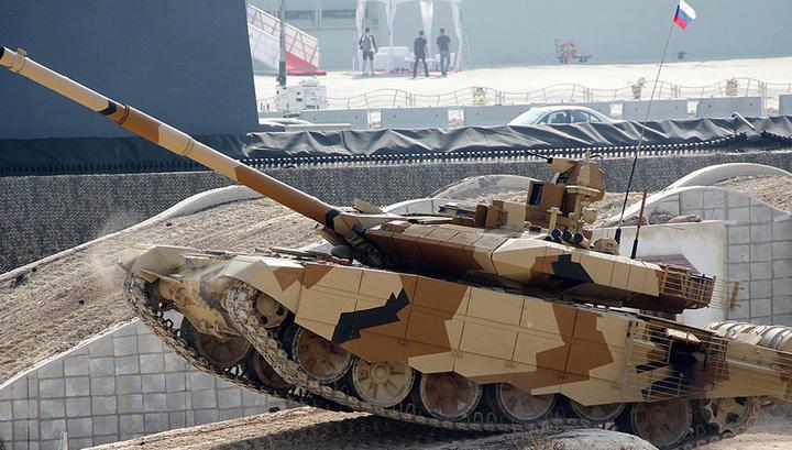 Опубликованы кадры испытаний новейшего экспортного танка Т-90МС